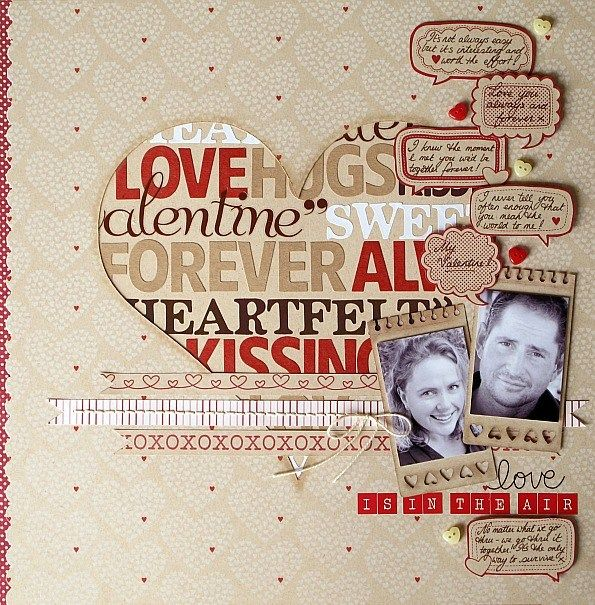 farewell scrapbook template - such a fun layout love it valentine scrapbooking heart