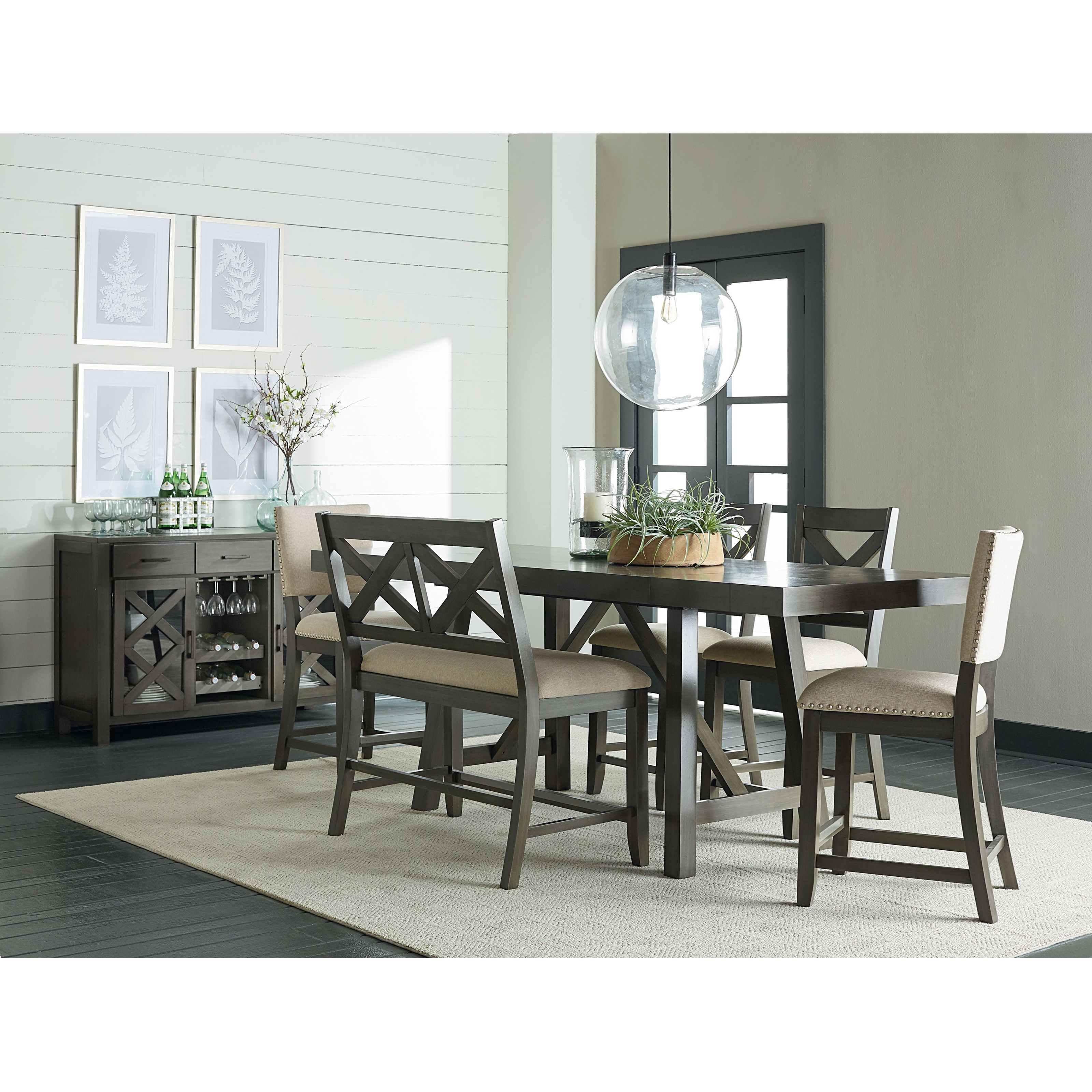 Omaha Grey Counter Height Dining Set by Standard Furniture ...