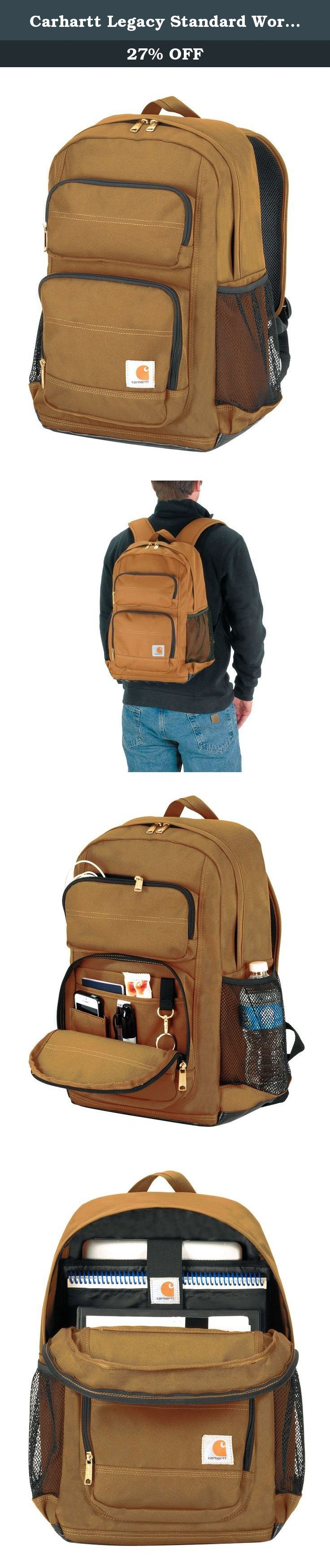d22c2dd9a Carhartt Legacy Standard Work Backpack with Padded Laptop Sleeve and Tablet  Storage, Carhartt Brown.