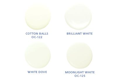 Benjamin Moore Colors Cotton Oc 122 Brilliant White Dove Moonlight 125