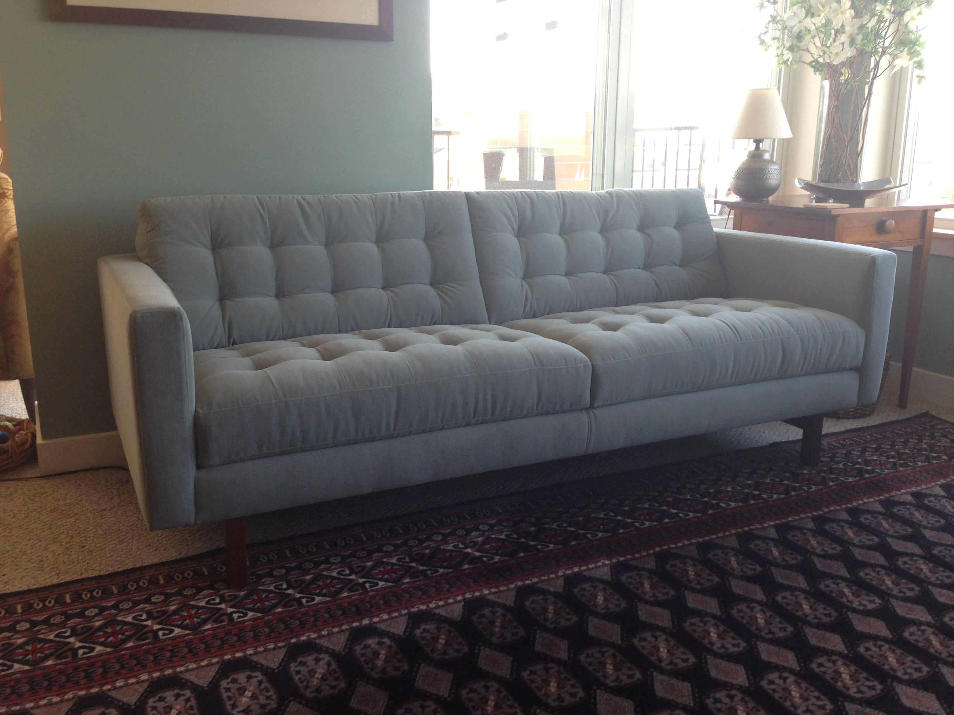 Our New American Leather Sofa, The Parker In Mineral, Just Arrived. Love It