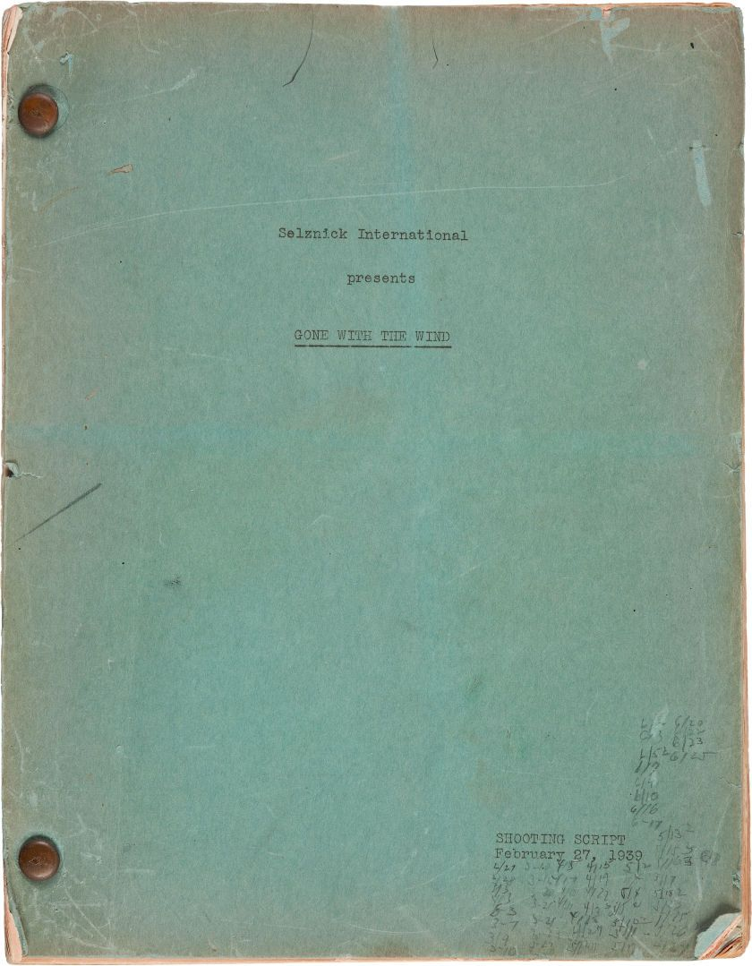 Movietv Memorabiliadocuments A Script From Gone With The Wind