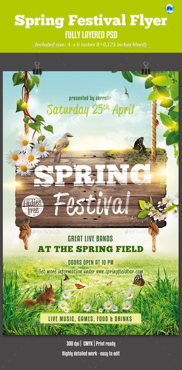 Spring Festival Flyer Flyer Template Template And Event Flyer