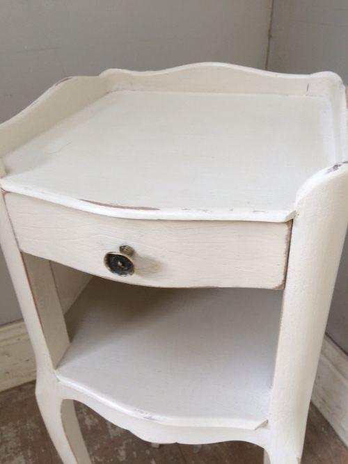 Slim Bedside Tables: A4369 Vintage French Slim Bedside Table