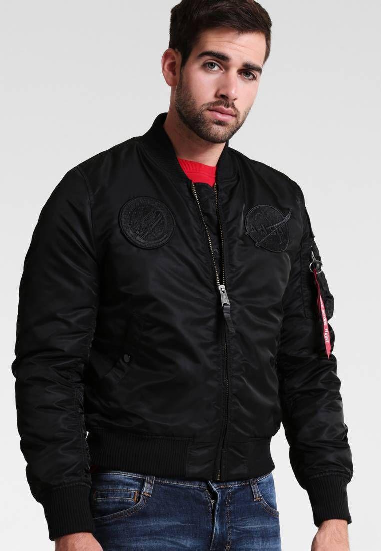 in vendita 25dc1 8e26c NASA - Bomber Jacket - all black @ Zalando.co.uk 🛒 | Bomber ...