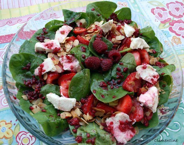 Le blog de Clementine: Salade de pousses d'épinards aux fraises et chèvre...