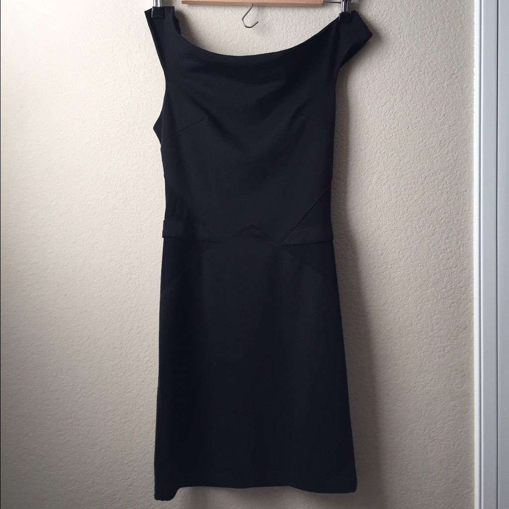 Poetry black dress with mesh sides size small products