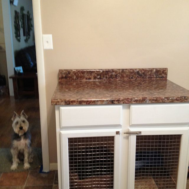 Use A Bathroom Or Kitchen Cabinet To Make A Dog Kennel Dog Crate
