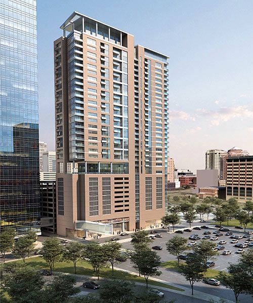 Hi Rise Condo Behind Houston 5 Facade Design Architecture Visualization Architecture Building