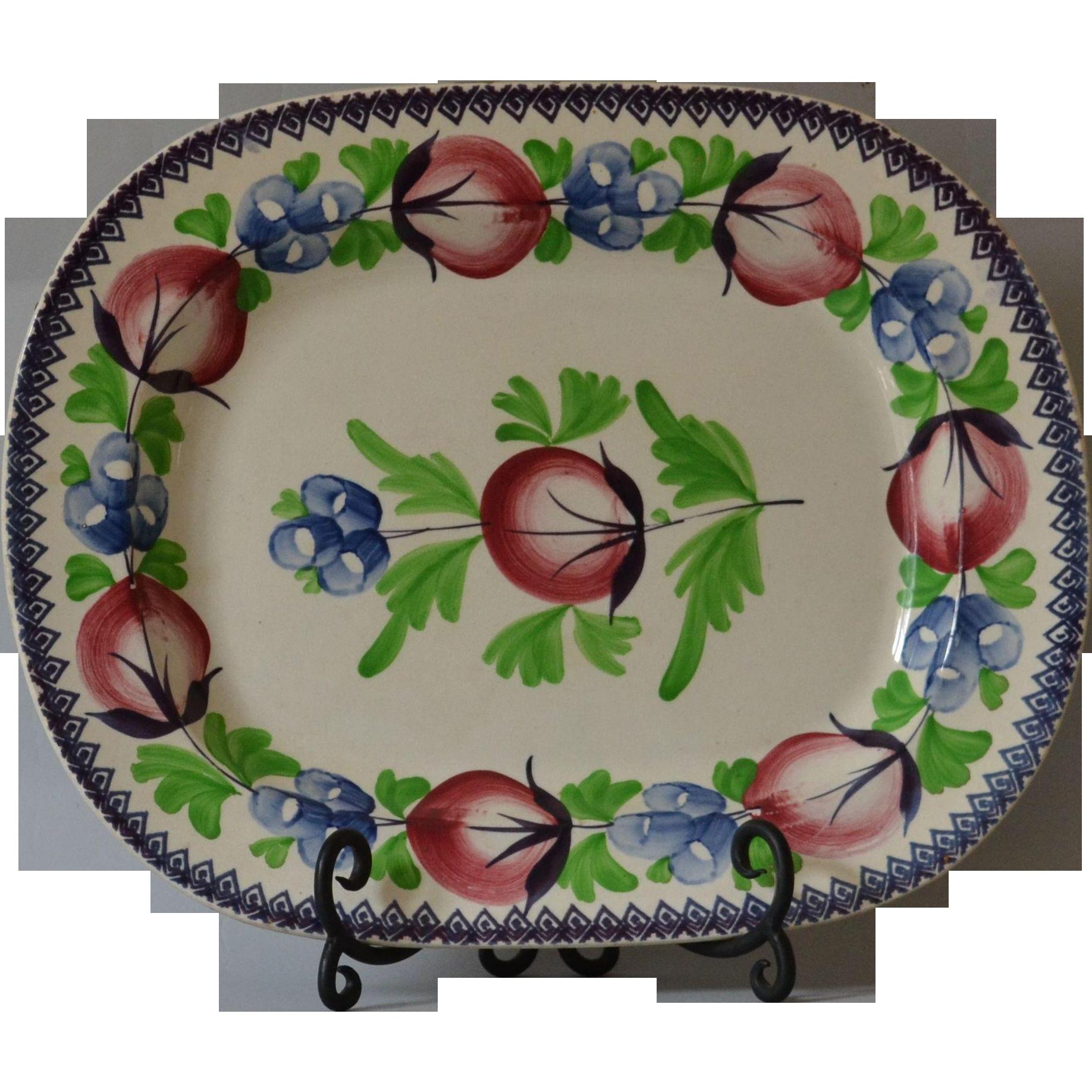 Antique Stick Spatter Platter