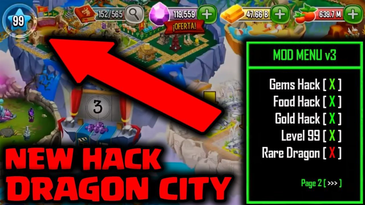 hack gemas dragon city android 2018
