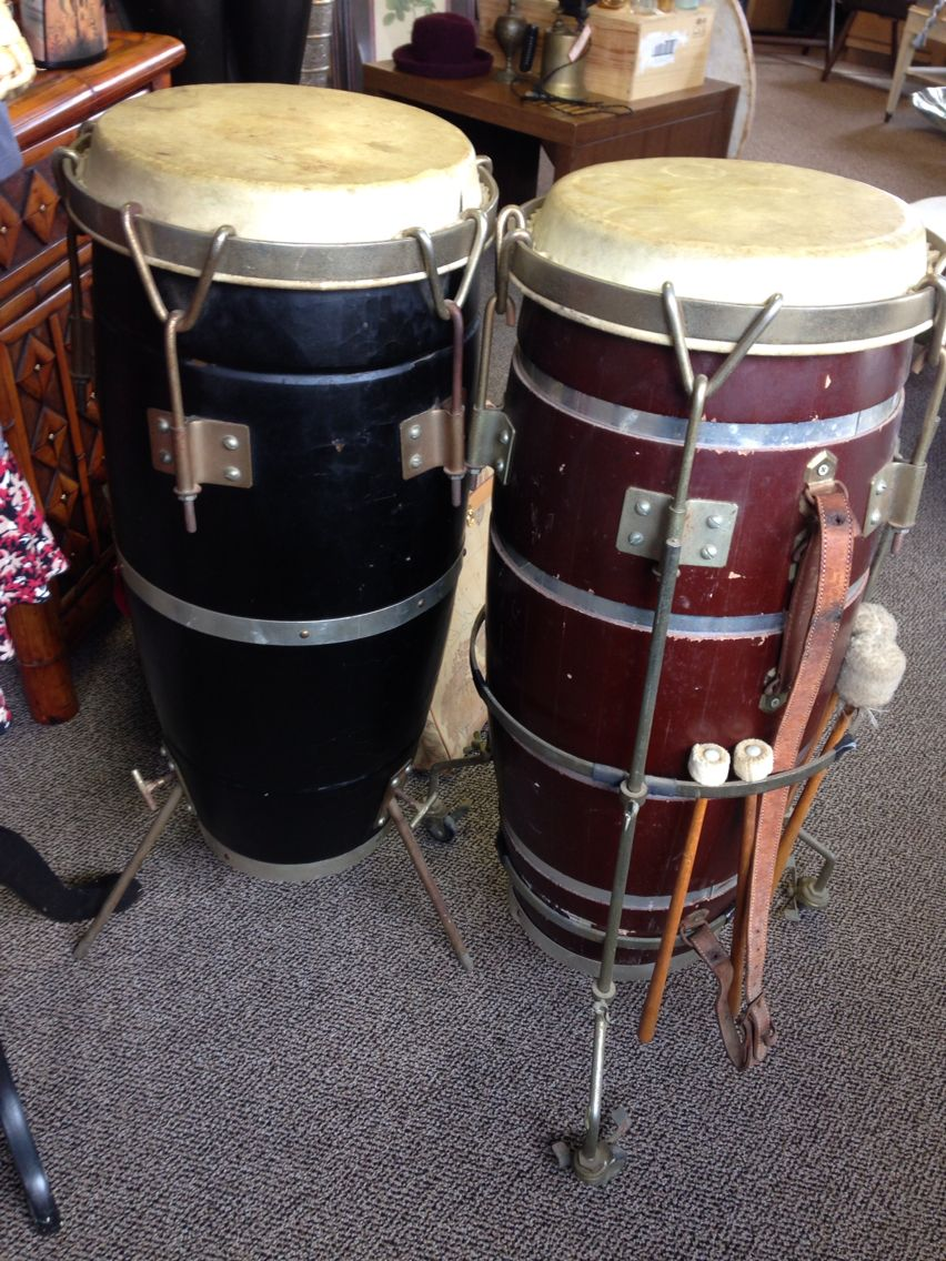 you can beat this vintage conga drums 50 each congadrum stock drums hand drum percussion. Black Bedroom Furniture Sets. Home Design Ideas