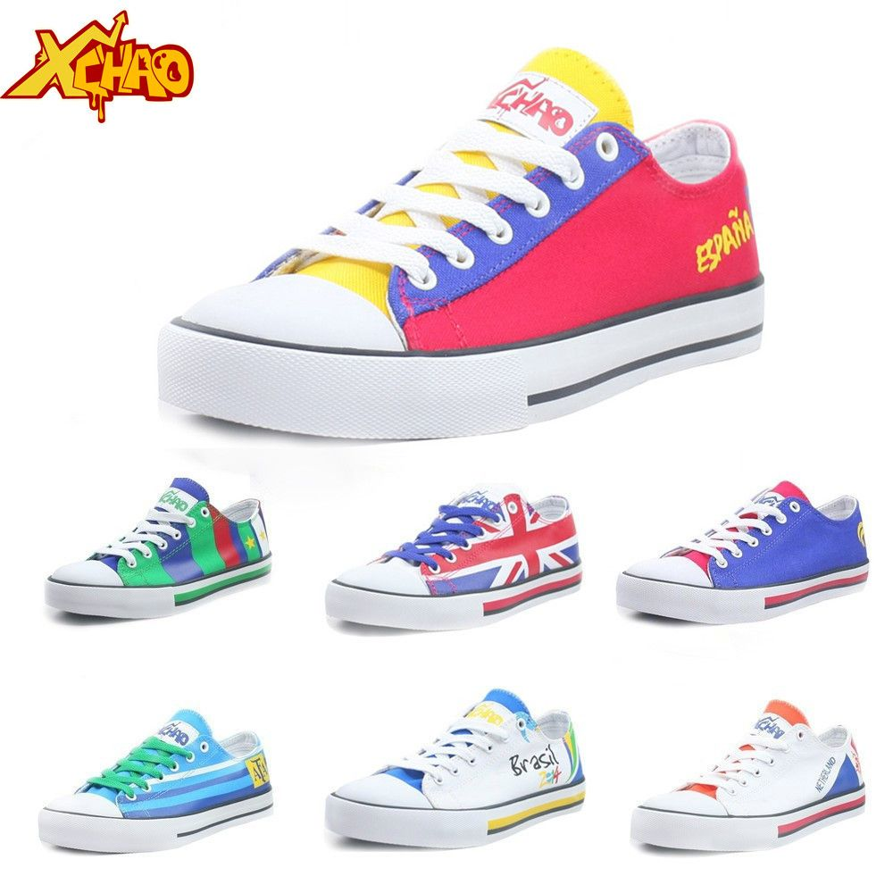 Spanish Flag Jogging Shoes Sport Sneakers Casual Shoes