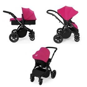 Ickle Bubba Stomp V2 Black 3 In 1 Travel System Pink