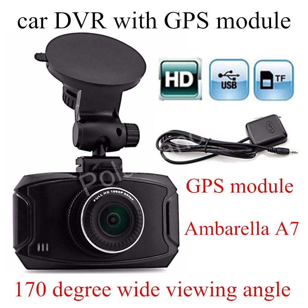 free shipping 2. 7 inch Ambarella A7 Car DVR GS90A Camera