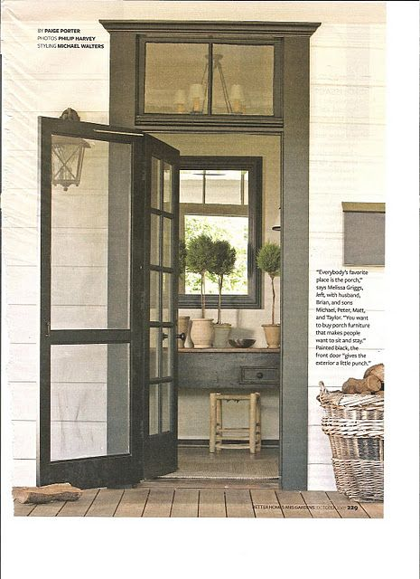 transom windows, screened door, french door, paint color. | entries ...