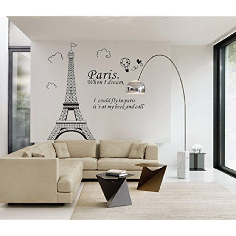 Paris Eiffel Tower View Home Decor Wall