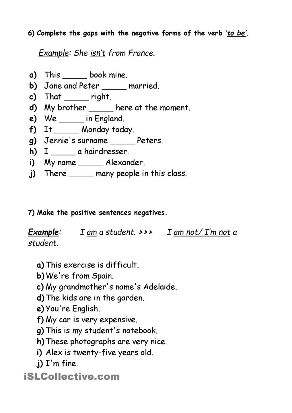 Workbooks helping verb worksheets : Simple Present Exercise (verb to be) | exercise | Pinterest ...