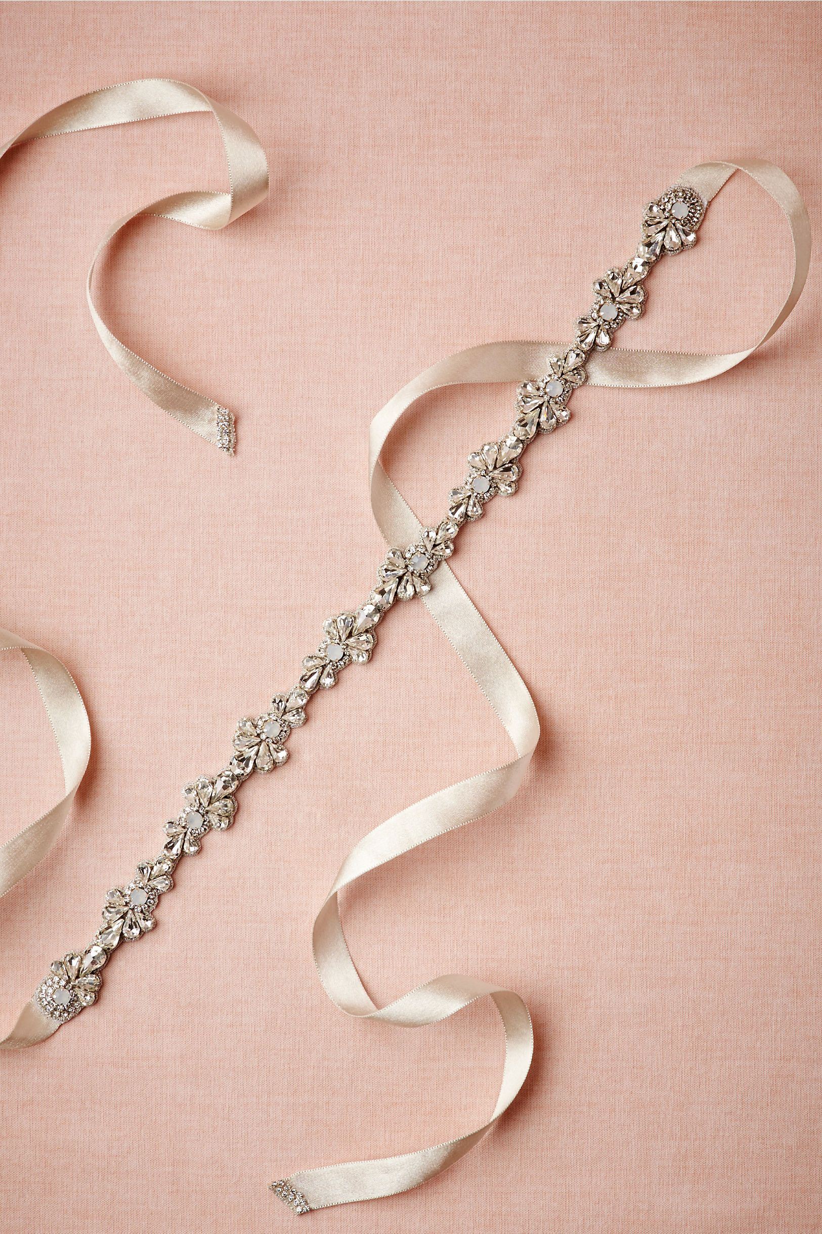 Opaline & Pearl Sash in Sale Accessories at BHLDN