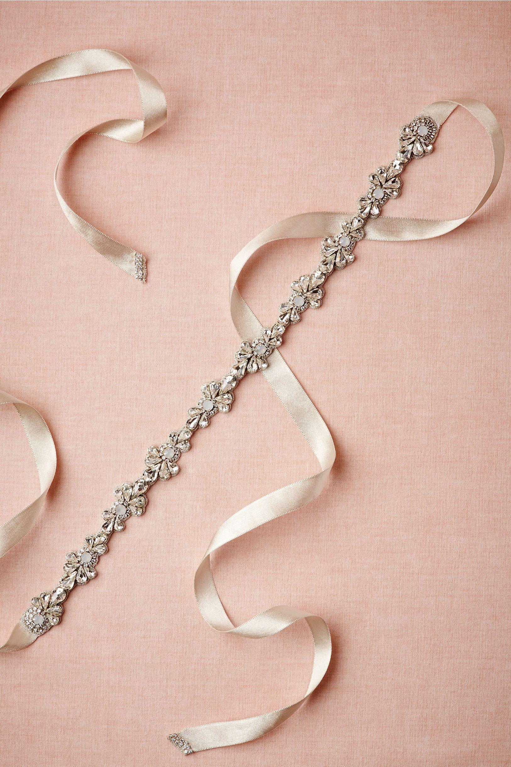 Opaline & Pearl Sash in Sale Accessories at BHLDN