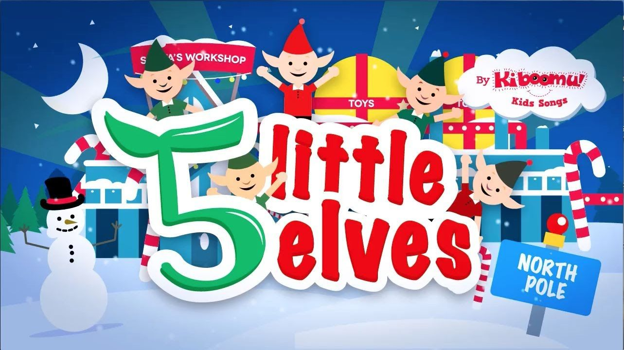 Five Little Elves Jumping on the Sleigh Song Christmas