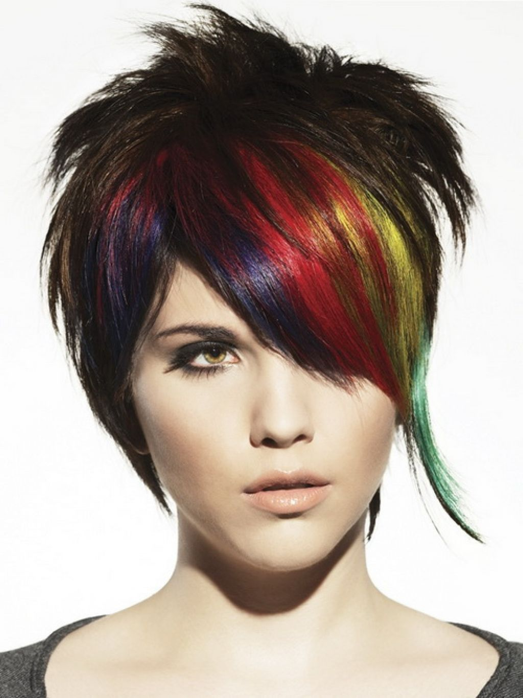 Funky Hairstyles For Medium Length Hair Long Hairstyles Short Punk Haircuts Punk Hair Short Hair Highlights