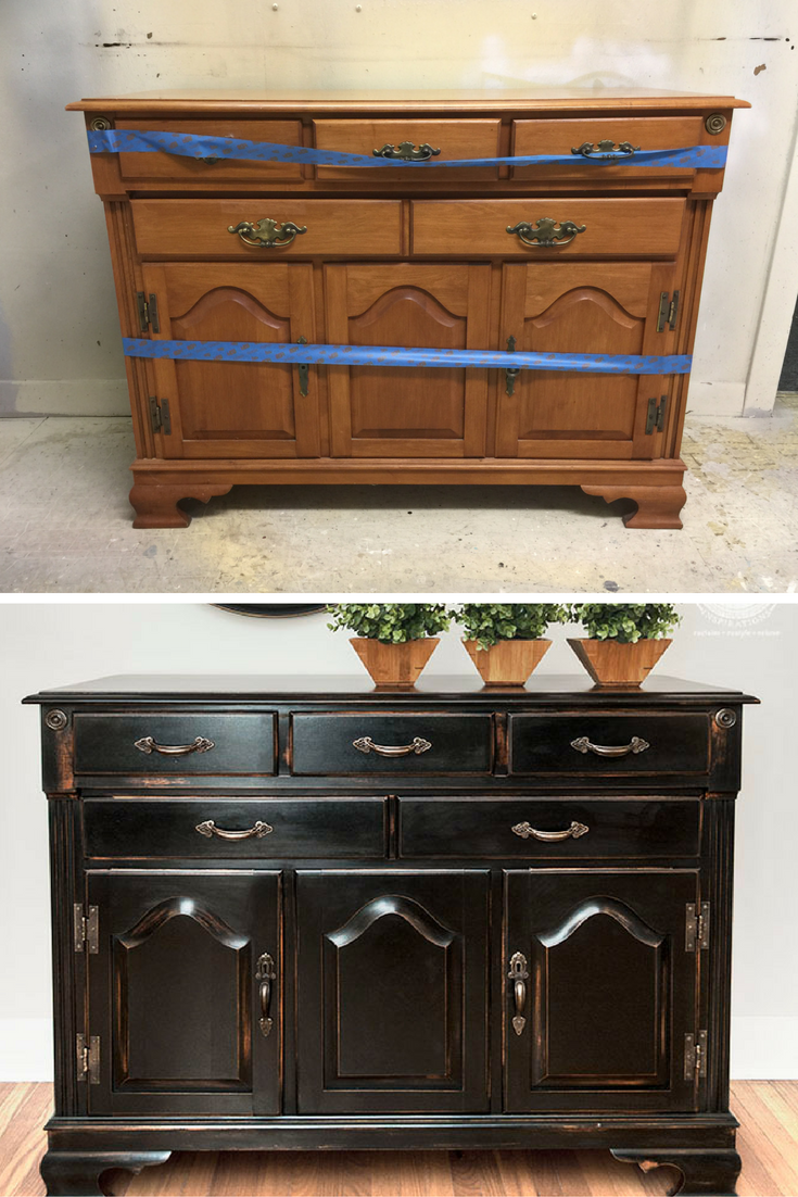 Before and after pottery barn knock off 5 easy steps on how to get this pb finish tr dg rd - Modern furniture knock offs ...