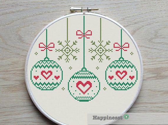 Christmas Bauble  cross stitch chart PDF