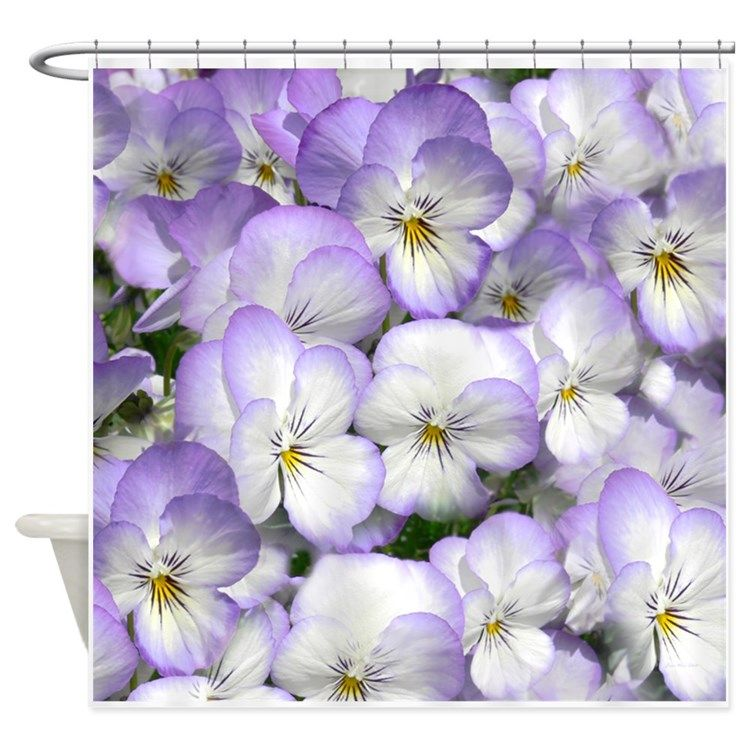 Purple Pansies Shower Curtain For