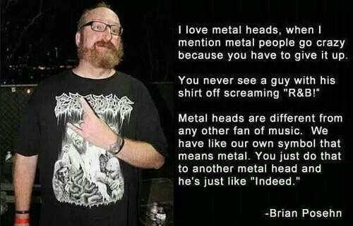 Throw Ur Horns N A Metal Head Will Always Back M Heads