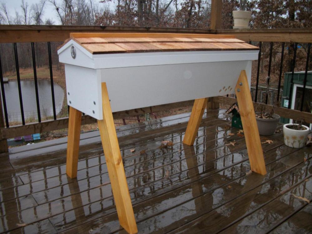 "Top Bar Hive 28 bars 40"" long Beehive Cedar Hinged Roof ..."