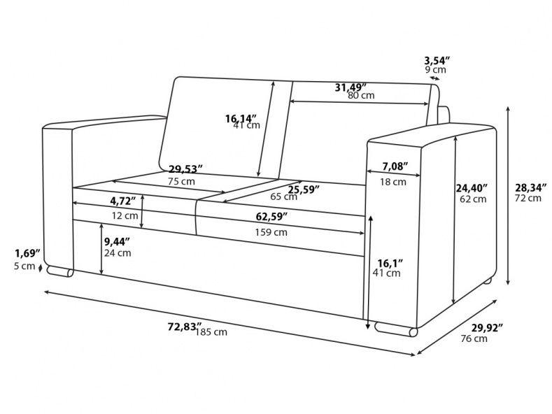 Average 3 Seater Sofa Length Muebles Geometricos Medidas De