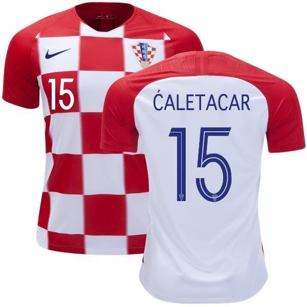 ff94067b725 Men #15 Dulje ĆaletaCar Jersey Croatia National 2018 FIFA World Cup Player