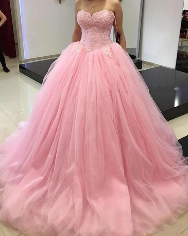 9058943fbec Princess Ball Gown Sweet 16 Party Quinceanera Dresses Sweetheart Corset  Ruffles Plus Size 2018 Girls Debutante Prom Dresses