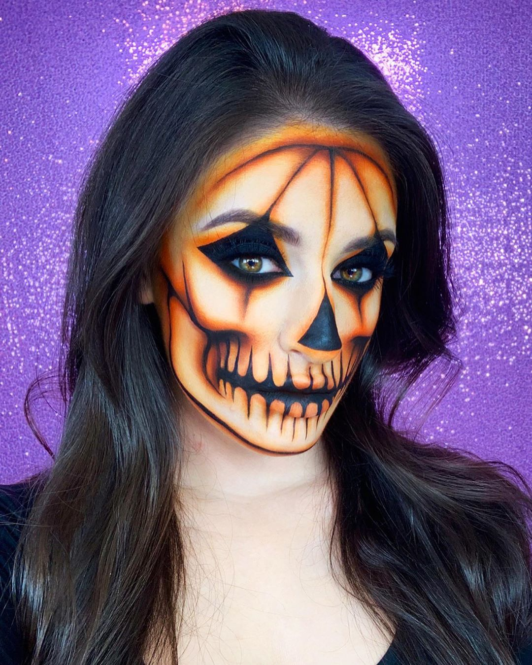 "Giulianna Maria•💜 on Instagram ""🎃💀Pumpkin Skull💀🎃 Have"