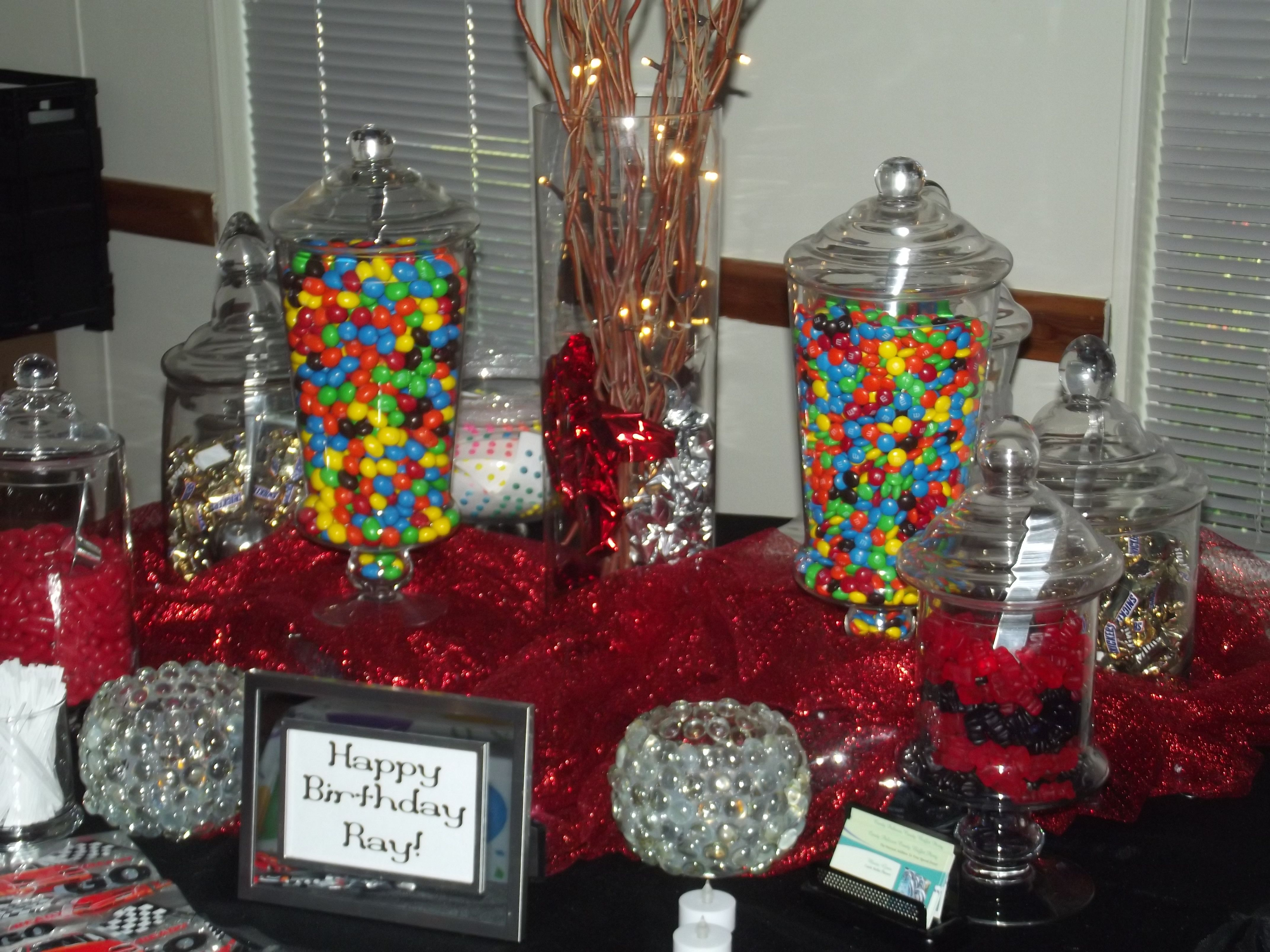 50th birthday party candy buffet
