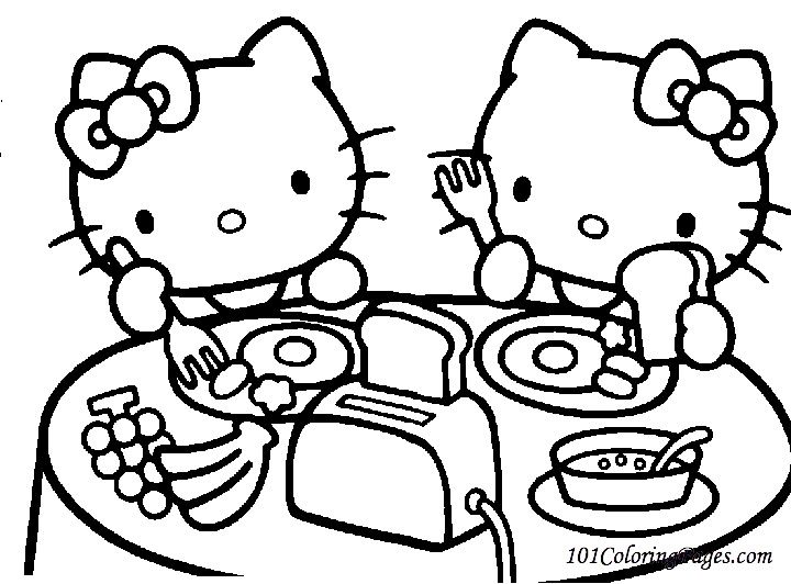 Hello Kitty Coloring Pages Printable For Download Hello Kitty