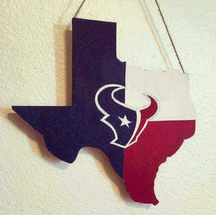 Houston Texans Decoration Wooden Texas Nfl Wall