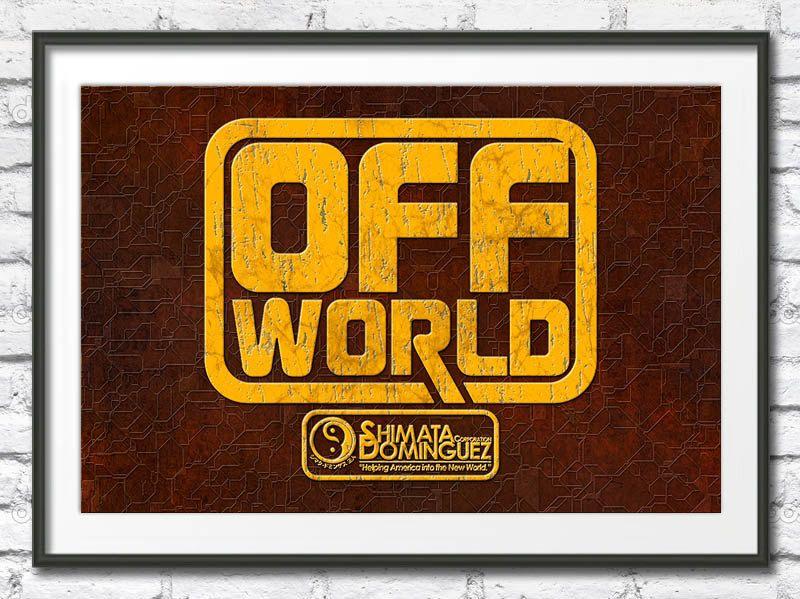 BLADE RUNNER Off World Poster Science Fiction Film Wall Art High ...