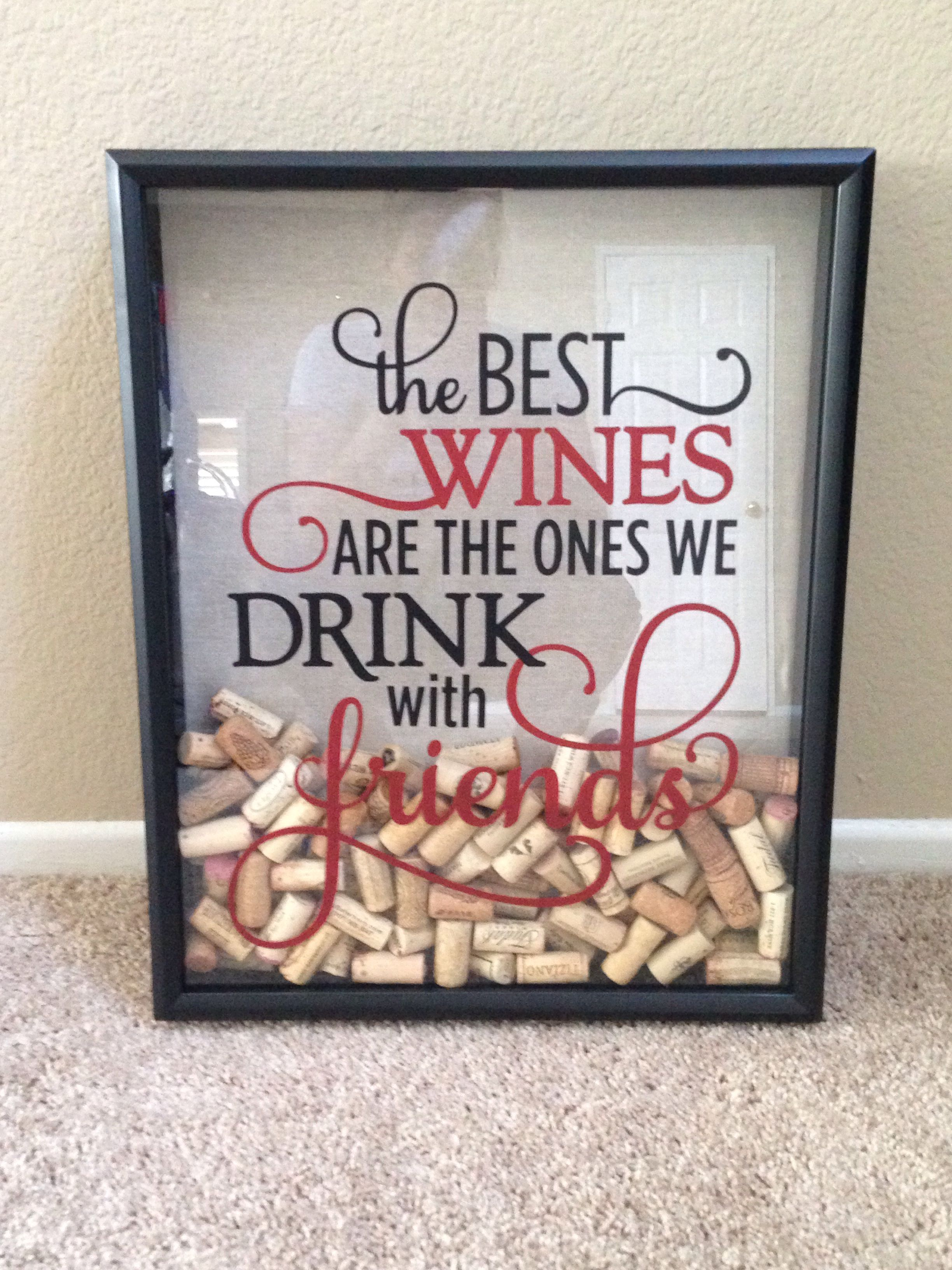 Wine cork shadow box | My completed Pinterest ideas | Pinterest ...