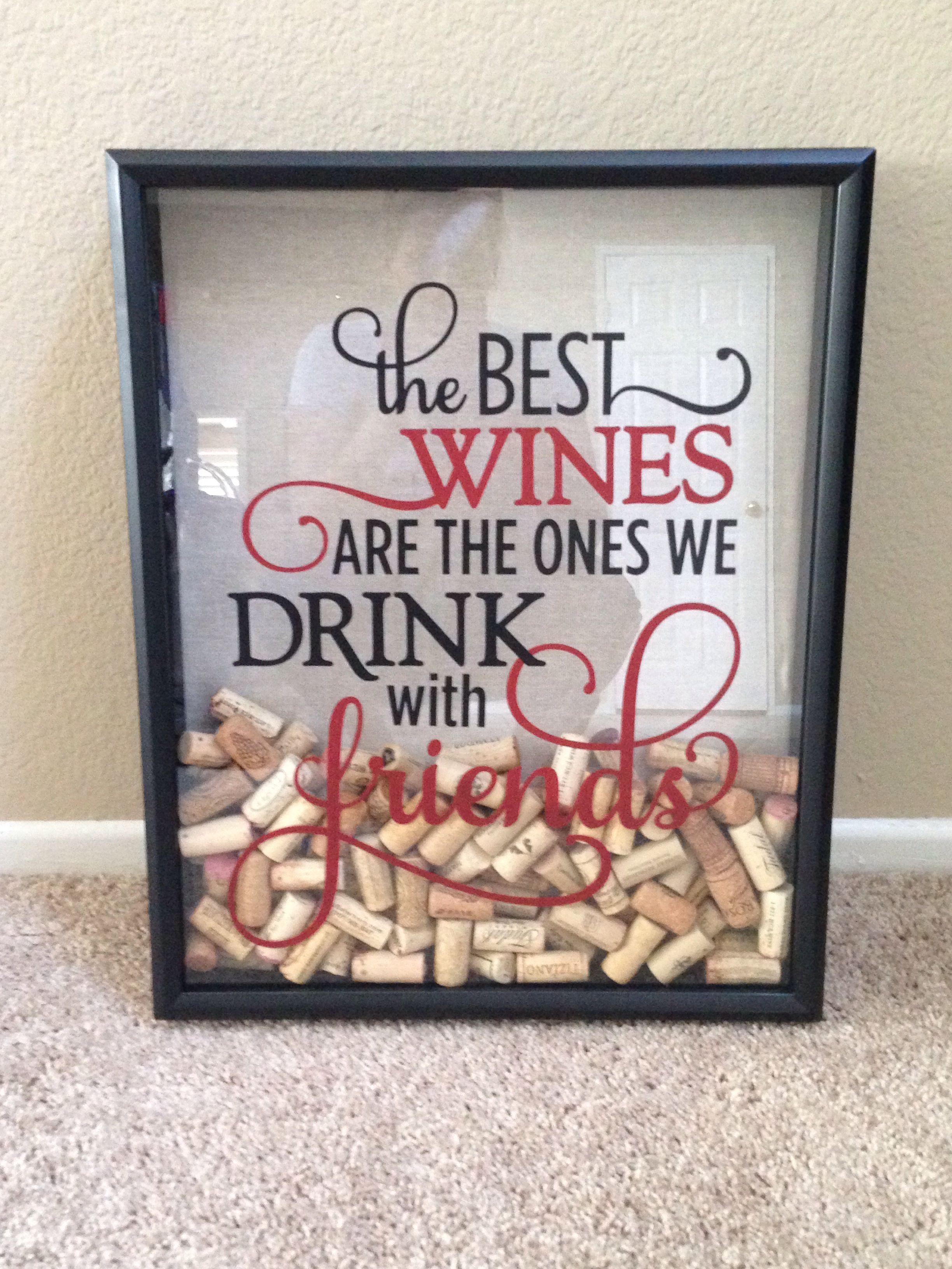 Wine cork shadow box   My completed Pinterest ideas   Pinterest ...