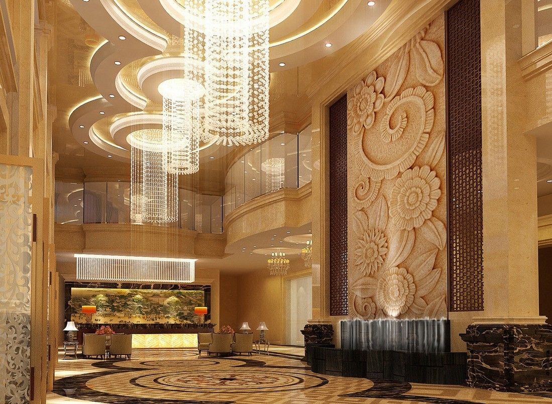 Lobby Design Ideas Luxury Lighting Design Lobby P 3d Renderings