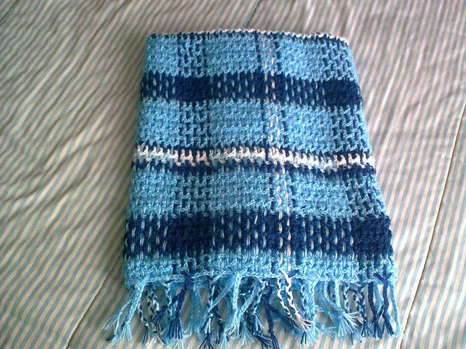 Crochet Plaid Baby Blanket | Scottish baby blanket, mantinha ...