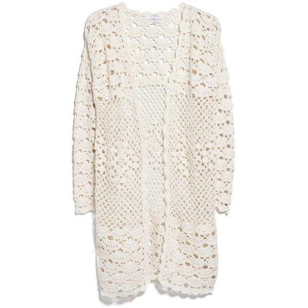 Mango Crochet Cardigan Found On Polyvore Featuring Polyvore Fashion