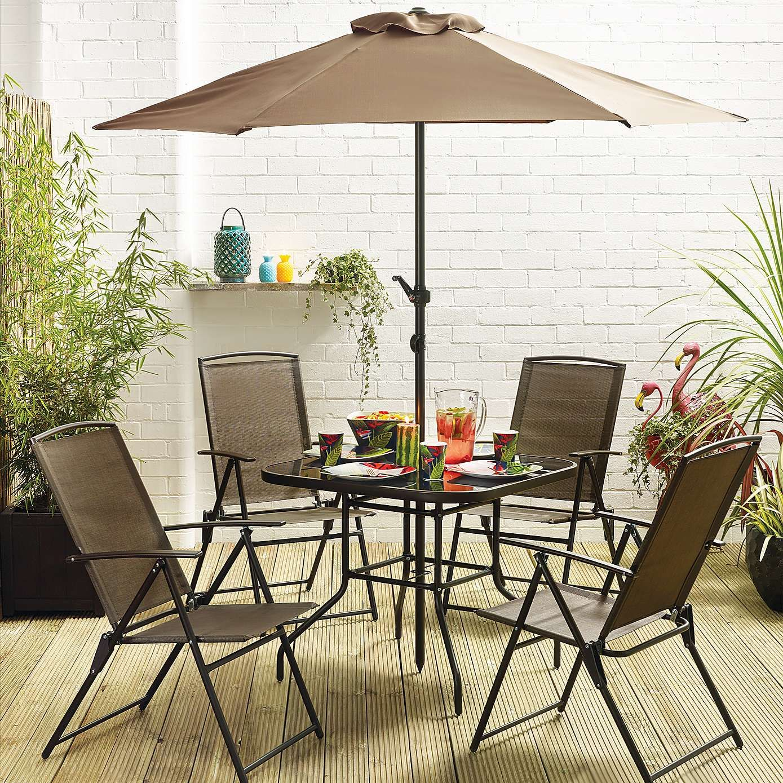 Oslo Bronze 4 Seat Dining Set Dunelm Outdoor Furniture Sets Dining Set Outdoor Decor