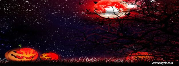 Red Night Halloween Facebook Cover