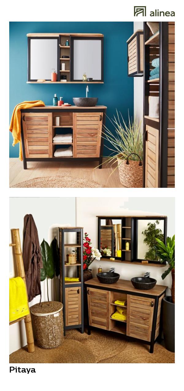 alinea : pitaya meuble de salle de bains en acacia massif ...