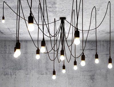 Suspension Maman modulable / 14 ampoules LED Noir - Seletti
