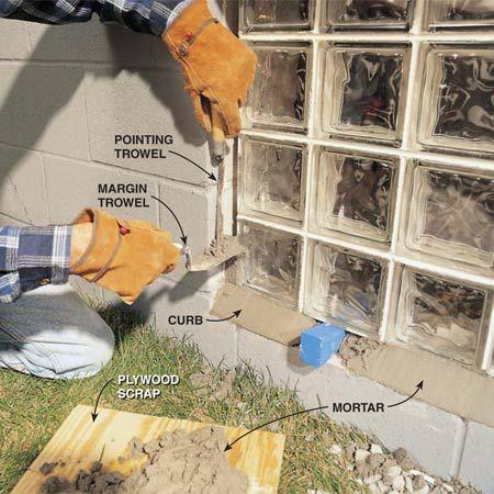installing glass block basement windows basement pinterest rh pinterest co uk Basement Window Replacement Inserts Basement Window Replacement Inserts