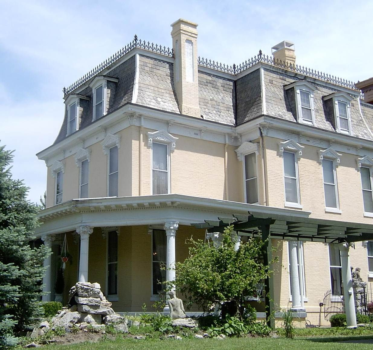 Historic New Albany Mansard Roof House Roof House Exterior